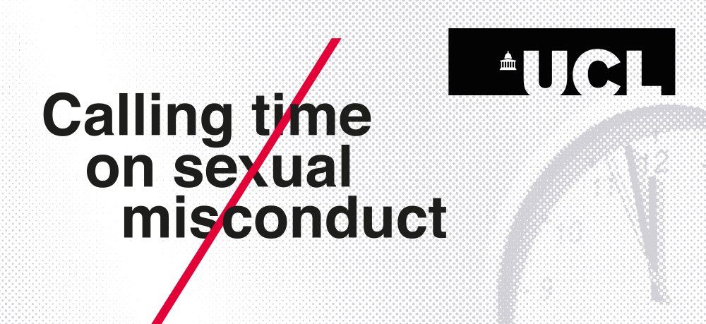 UCL is presenting the Calling Time on Sexual Misconduct conference with @ukcultureshift, online 17-18 June, sharing global best practice on combatting sexual misconduct in higher education. Register now: https://t.co/2t3PYCIqXo #CallingTimeConference #FullStopatUCL https://t.co/AJ2Jkgncy6
