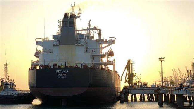 """After """"Fortune"""" and """"Forest"""", the 3rd #Iran/ian tanker, """"Petunia"""", entered #Venezuela territorial waters today. """"Faxon"""" is expected Friday and """"Clavel"""", the fifth and last but not least would be arriving Sunday or Monday, depending on weather/sea condition. #VenezuelaLibre pic.twitter.com/zeae1FUm8l"""