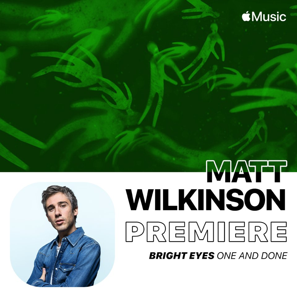 Catch @w1lko playing the new @brighteyesband song One and Done on @Beats1 today! 📻: Listen live from 11:00am GMT: apple.co/matt