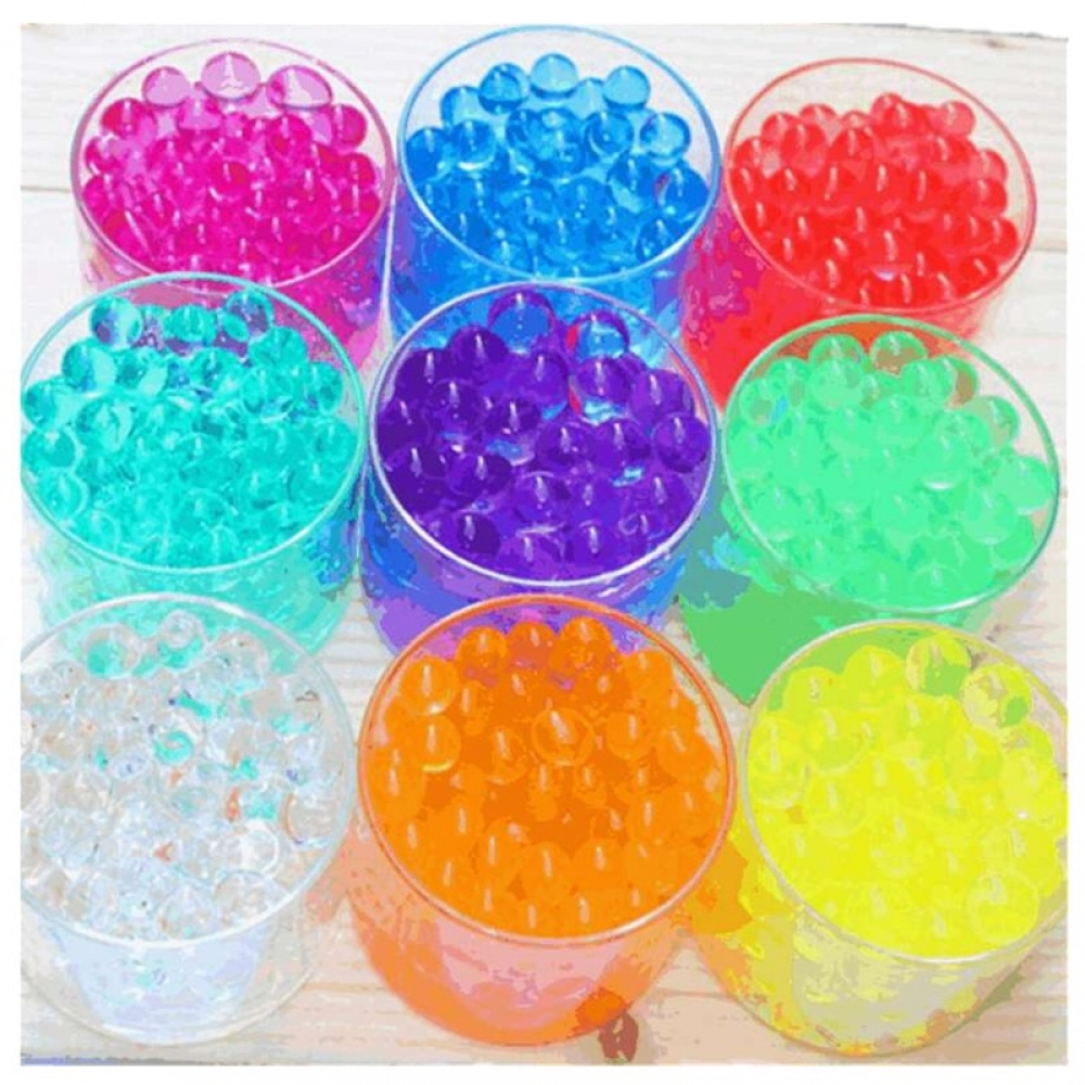 #happy #startup 100pcs/bag Crystal Soil Mud Hydrogel Gel Kids Children Toy Water Beads Growing Up Orbiz Water Balls Wedding Home Decor Potted F