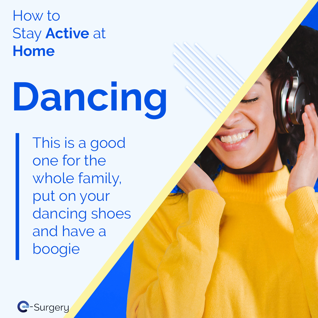 Put on your favourite tune and turn it up to 11, dancing is a great mood booster and easily works up a sweat! You can do it on your own or with your household, either way it's guaranteed to put a smile on your face. #exercise #workout #dancing #happy #health