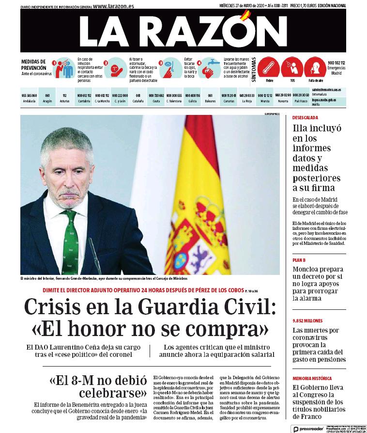 #Portada de @larazon_es  https://t.co/67HSIZiLs7 https://t.co/C8TxyeHNvs