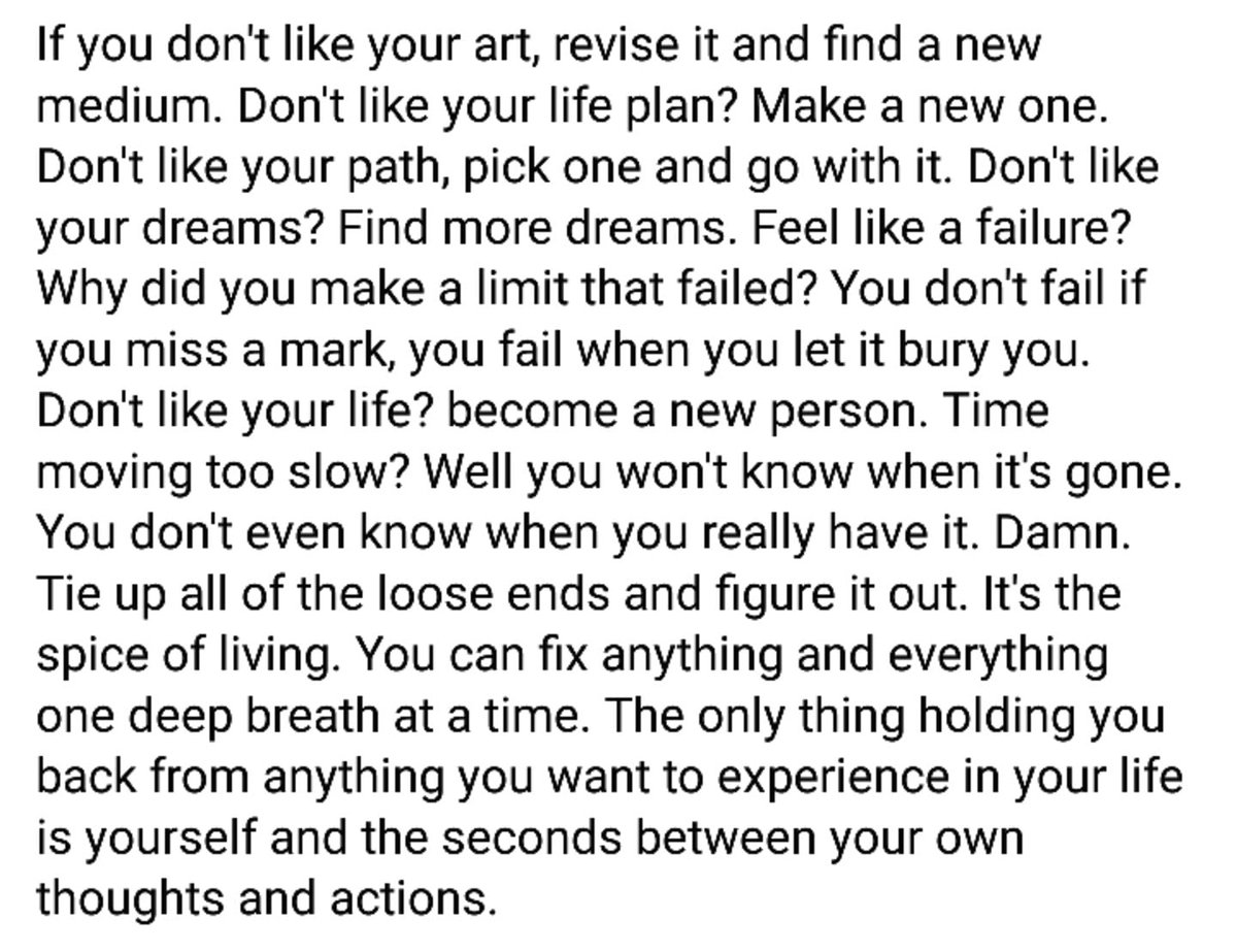 Literally how I handle life. Yes, I wrote this.