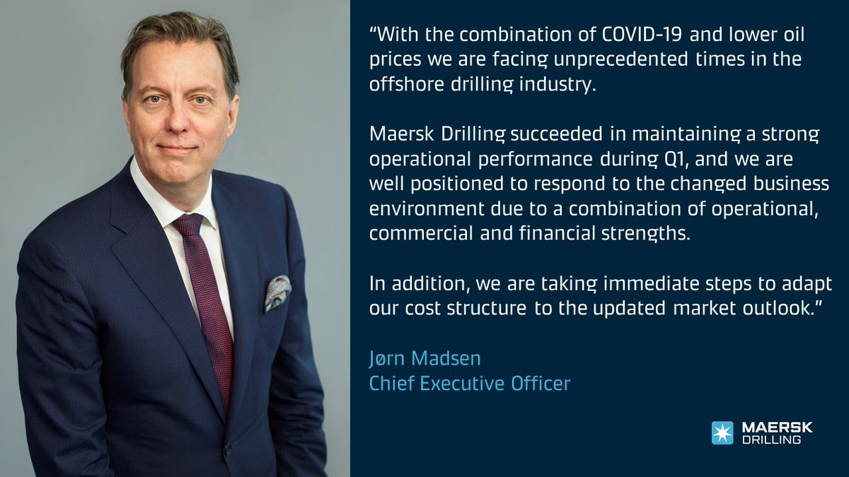 Our CEO Jorn Madsen praises the efforts of #OurPeople in maintaining a strong operational performance during unprecedented times. Read more about #MaerskDrilling's Q1 Trading Statement here: https://t.co/cThzglkTy2 #DRLCO https://t.co/WXMz2YNvwl
