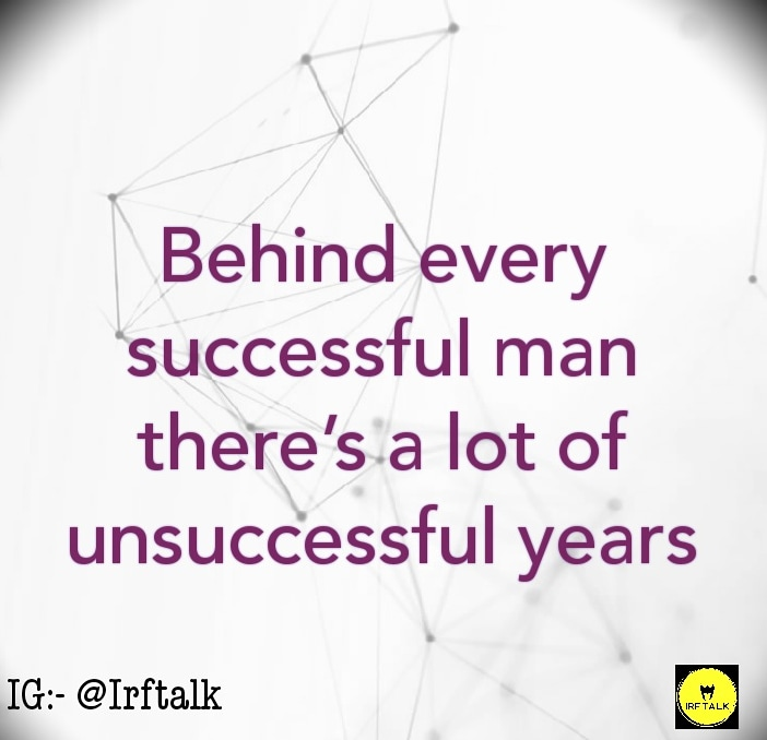 Behind every successful man there's a lot of unsuccessful years . #failure #success #love #motivation #fail #fails #life #failurequotes #motivationalquotes #quotes #inspiration #failures #failarmy #nevergiveup #sad #goals #successquotes #lovefailure #failvideo #Hardworkpic.twitter.com/rorAXkCXbe