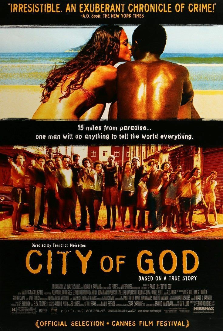 City of God is a brutally violent, shocking & merciless cinema that is gripping! Admired the raw and fierce storytelling, explosive pace & the incredibly written screenplay    A disturbing portrait of life in the slums that covers world of gangsters, gang-wars & drug deals ! <br>http://pic.twitter.com/oawFPawQ5i