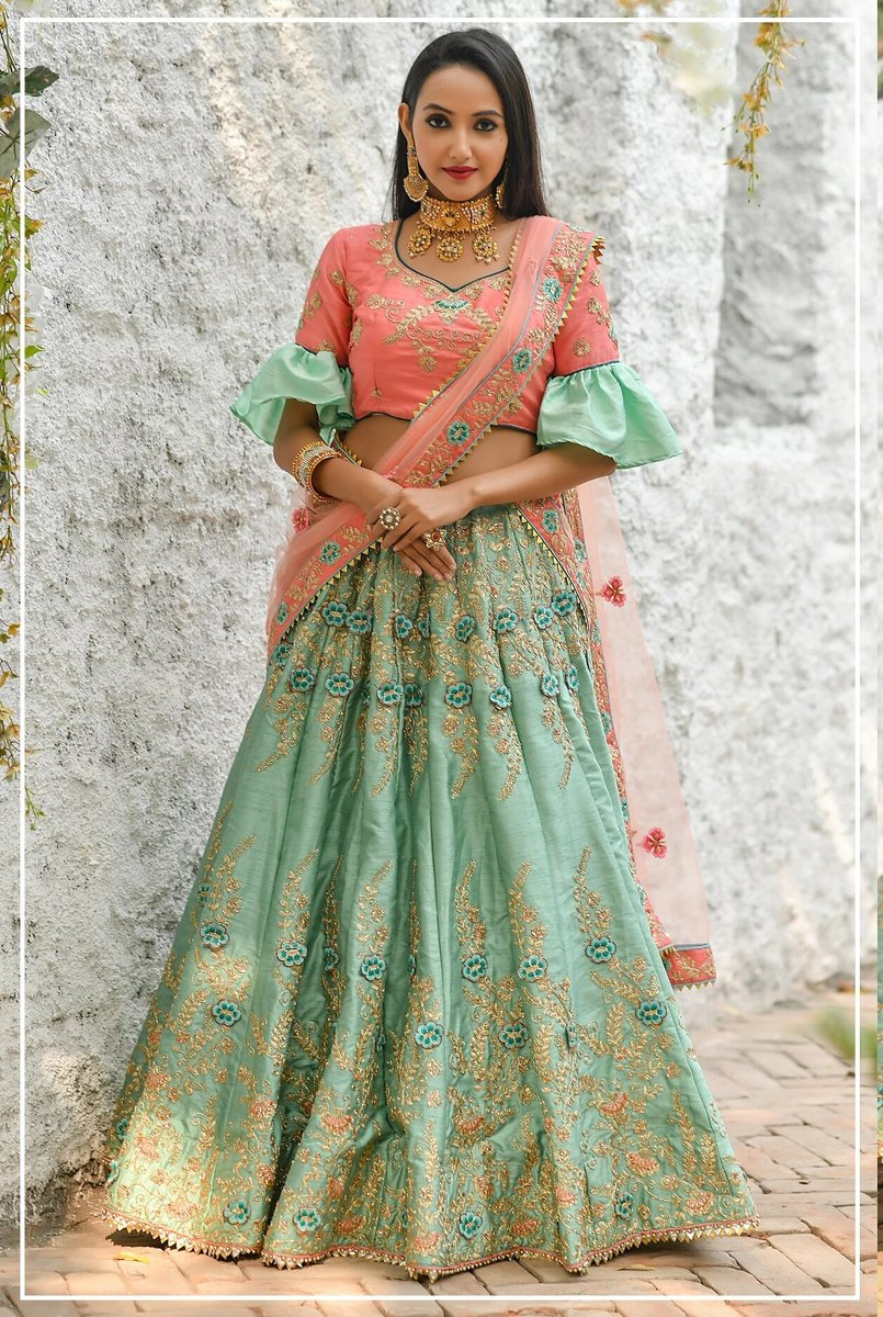 At @pink_vink, Mint green color adda silk heavy embroidered lehenga choli only at https://bit.ly/3d7qnOO   #sareelove #sareeblouse #SareeTwitter  #indianlehenga #skirt #weddinglehenga #twitter #socialmedia #ecommerce #fashionstyle #shopping #clothes #dresses #silksareepic.twitter.com/lViUGlpC1F