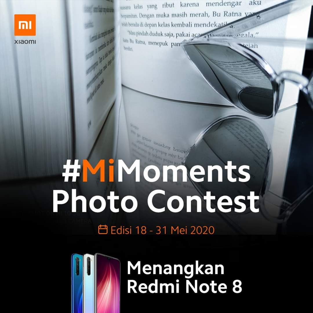 Sedang memerlukan smartphone #Xiaomi baru? Ikutan dulu kompetisi #MiMoments, siapa tahu kamu yang akan memenangkan salah satu hadiahnya, #RedmiNote8.  Temanya adalah 'reflection', jadi kamu tidak memerlukan lensa khusus untuk menangkapnya. pic.twitter.com/heJyBYLyh4