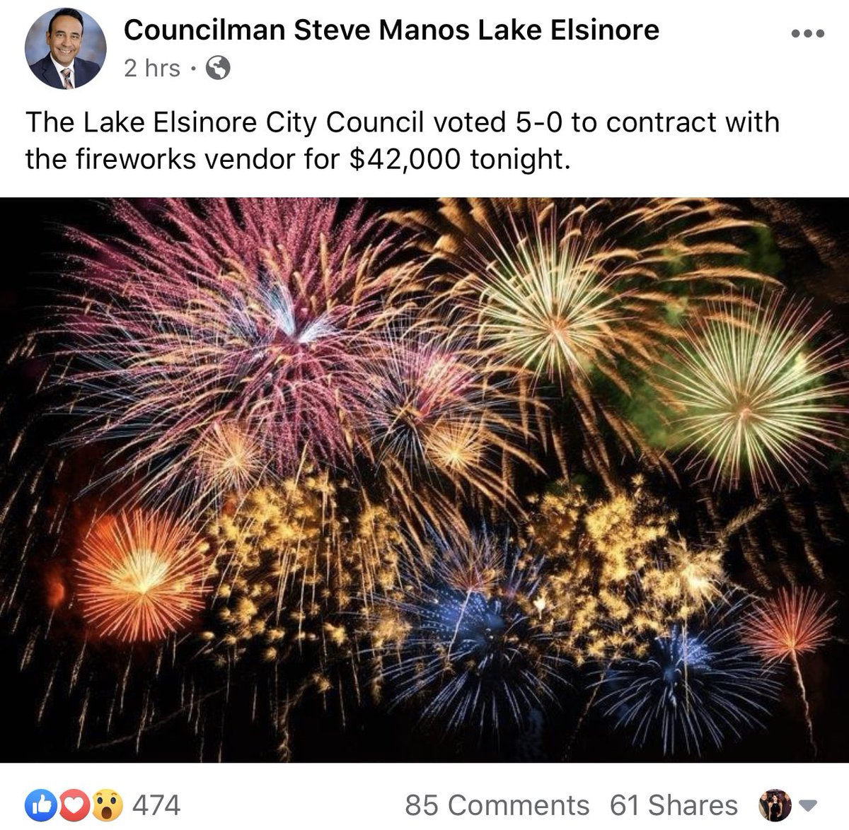 BREAKING NEWS! Lake Elsinore moves to hold fireworks celebrations!!! Show your support to this community and leadership! If they have a donation page to contribute, only if you can, consider supporting the cause. #IndependenceDay #RiversideCounty