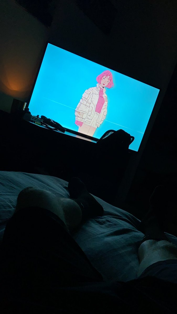 Happily in bed listening to some lofi music after driving 10 hours 😌