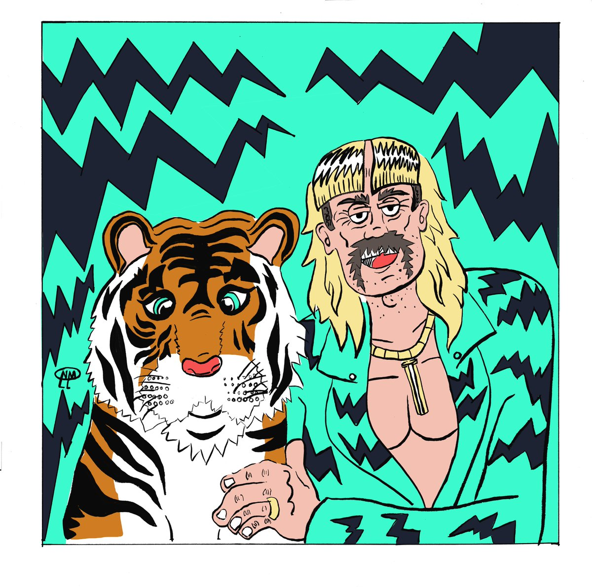 """Tiger King aka """"the level 99 meth dealer"""". The strongest meth dealer you will ever face. #TigerKing pic.twitter.com/HlqzUSZoyF"""
