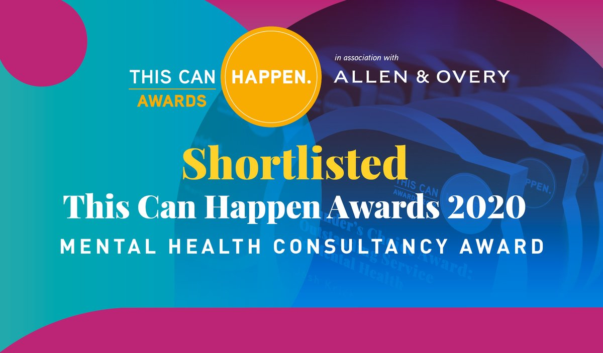 A real honour to have made the shortlist for #thiscanhappenawards in the Mental Health Consultancy Award category. Thanks to our team, clients and everyone who has supported us. So excited!! ~ Terry and Gemma #thiscanhappen2020 #mentalhealth #businessawards #familybusiness