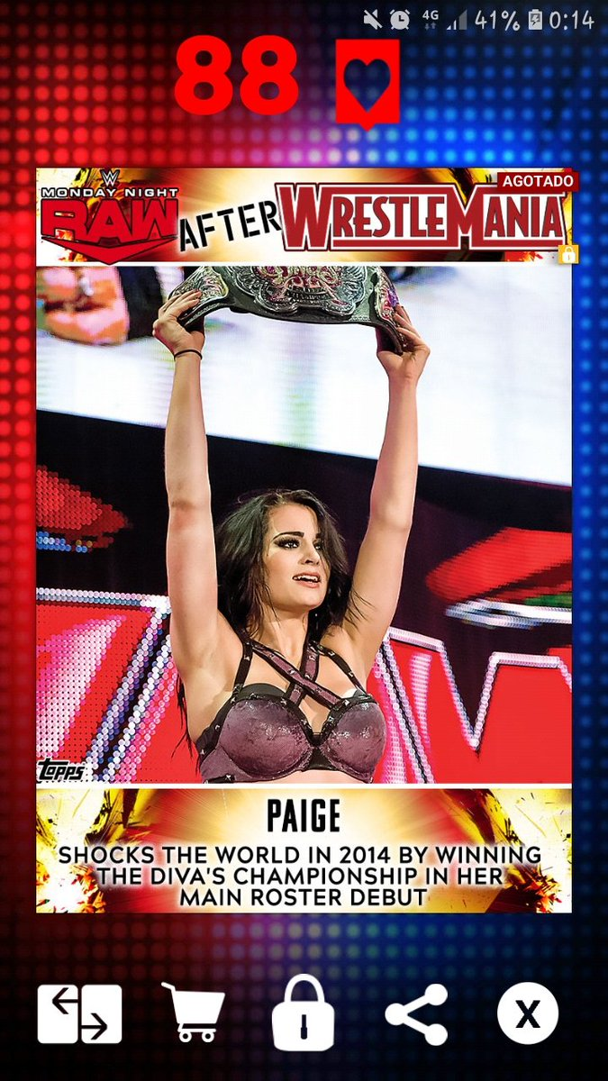 Good morning 🙋🏼♂️☕🍩🖤 Yesterday I got one of my favorites @RealPaigeWWE  The best #RawAfterMania @ToppsSLAM https://t.co/KecZttg0HB