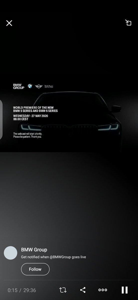 The new BMW 5 Series and BMW 6 Series. #THE5 #THE6 https://www.pscp.tv/w/cZy0szFQbUtxSnpwSmdQam98MU1ZeE5rTXFxWm5Ld1F_Qe6x2kSXA8ZKyzYzKI0PN53pKTUr3c3nWYcyof1s…pic.twitter.com/ydZs3HoI7m