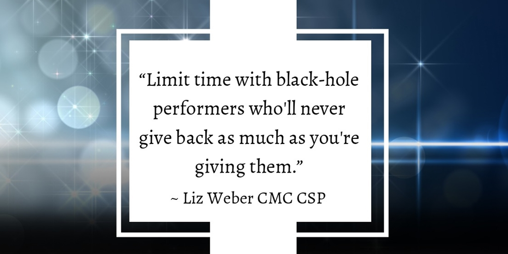 #Leadership Tip: Limit time with black-hole performers who'll never give back as much as you're giving them.   - #Manager #CEO #BusinessOwner #HRAnalytics #HRStrategies #HRProfessionalspic.twitter.com/CdEf8NkYeh