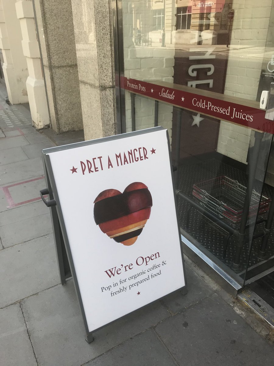 The Pret is now open and the sun is out!