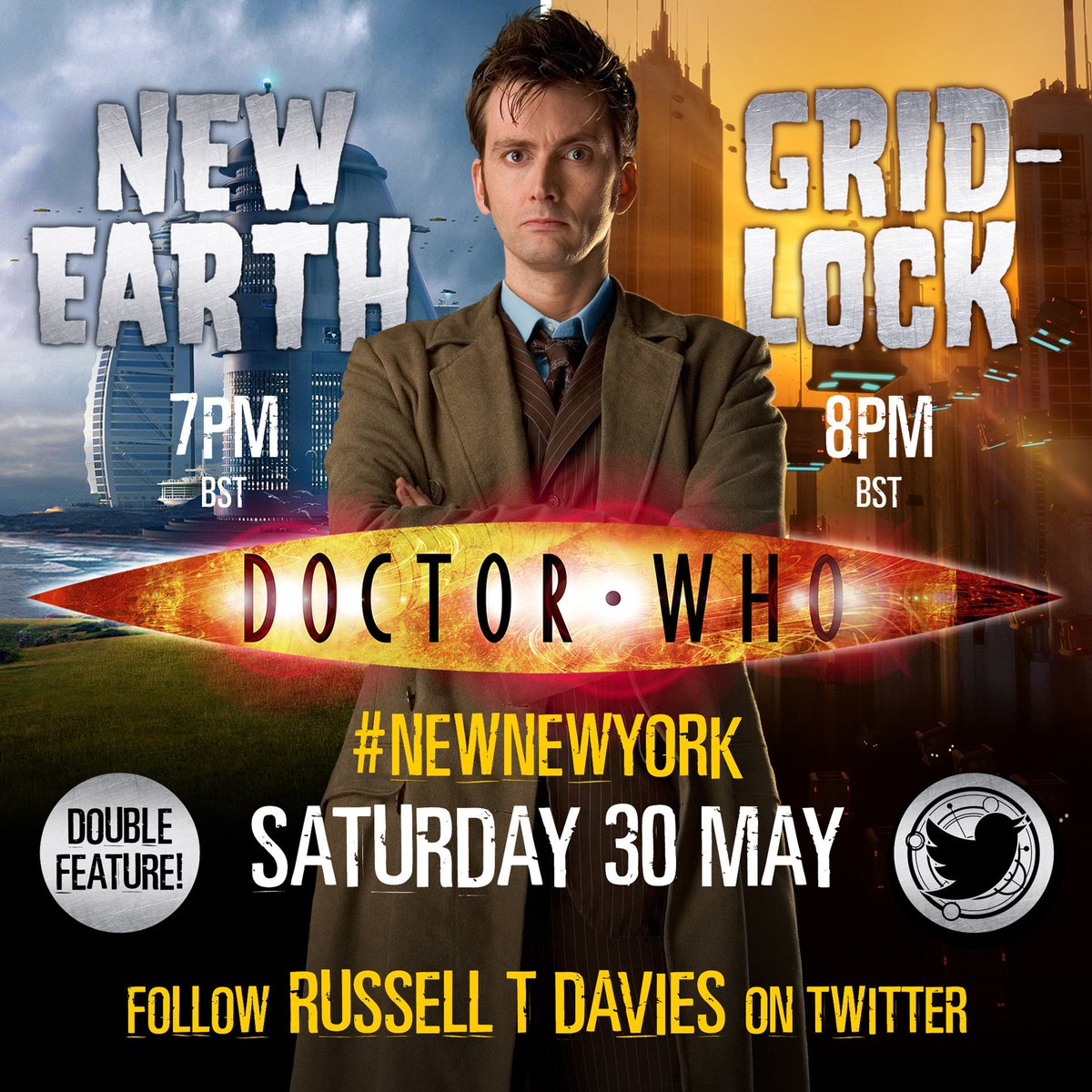 Watchalong of the David Tennant Doctor Who episodes New Earth and Gridlock
