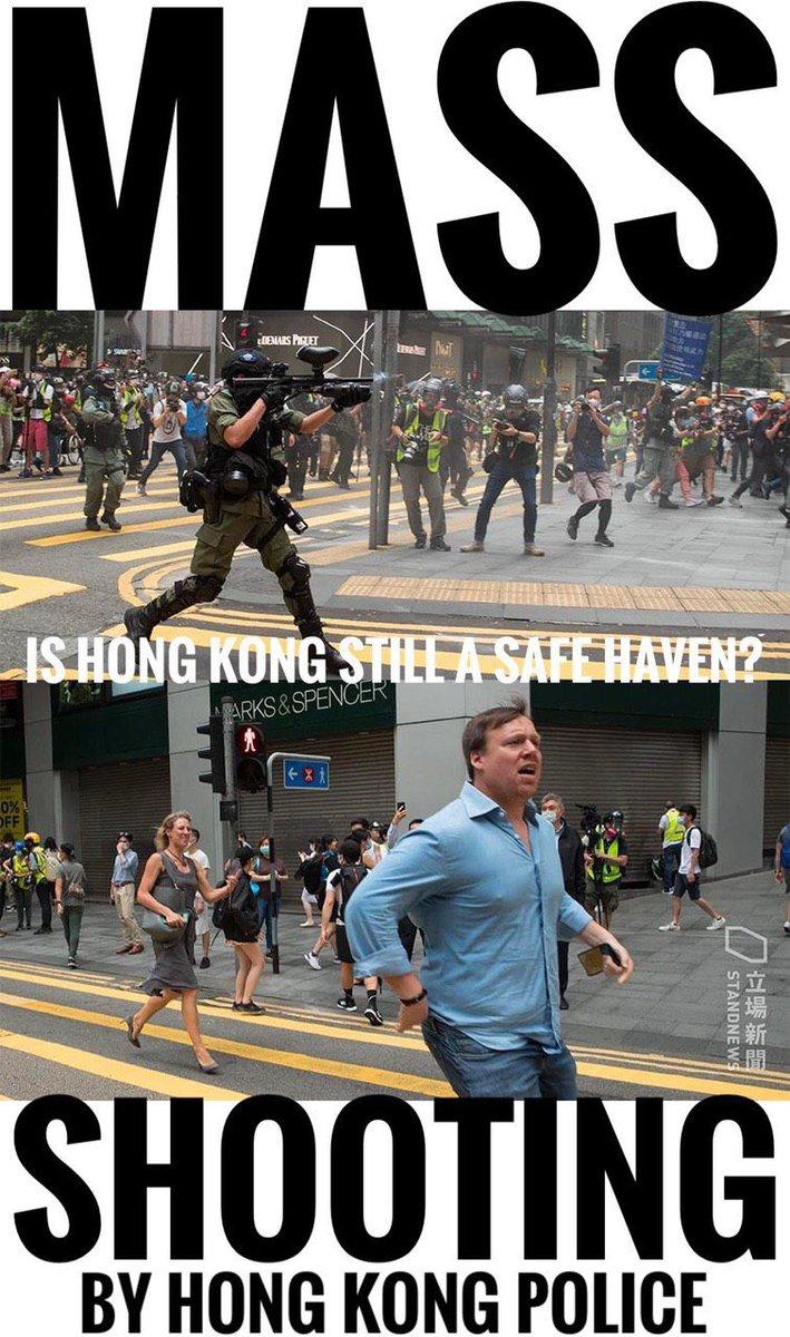 #0527 #反惡法  #胡椒彈球 #黑警 #警暴 #中環 #English #國際線 The HKP shot the people non sense and violently. Every citizens escaped from Central like being a refugee. How come the HKP did this? This is massacre!pic.twitter.com/BQJqPGqmQ0