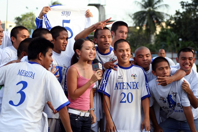 .@AteneoMFT legend Atty. Mickey Ingles. You can also see the current head coach. RT @MickeyInglesLaw: Question in class today (which is almost always asked): What did you like more, UAAP Football 3peat or topping the bar? My answer (always and forever):