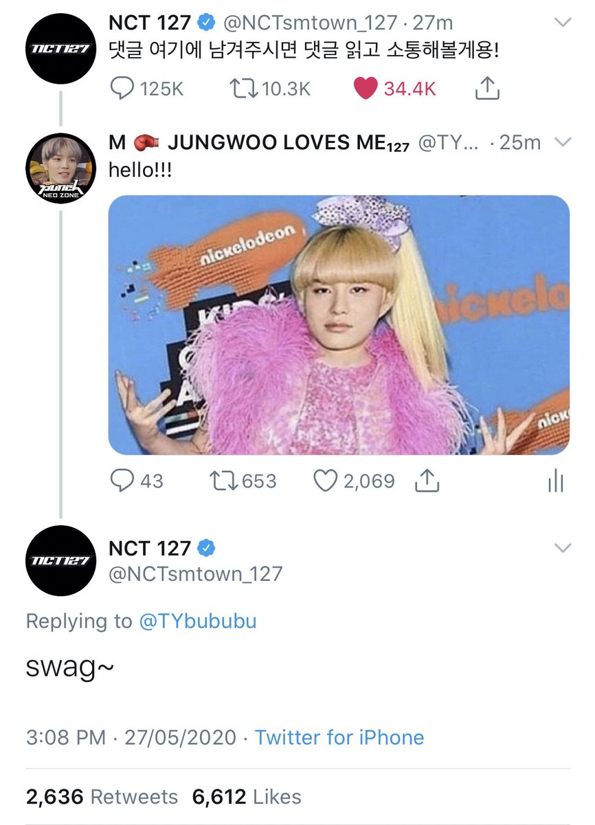 so it looks like memes get jungwoo's attention  <br>http://pic.twitter.com/LPNLAVNsDw