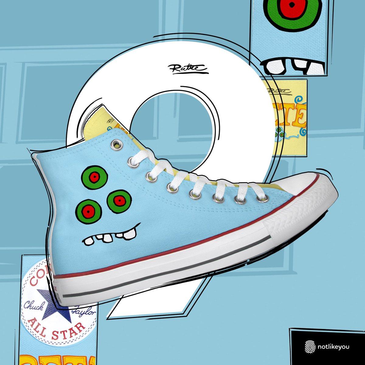 Sie sind da: Sneaker von Converse im RUTHE-DESIGN! Ihr bekommt sie exklusiv bei notlikeyou.com - 1 Woche lang gibts dort täglich ein neues Design + an diesem Tag 10% günstiger. Rabattcode: ruthe. Heute gibts das zweite PETE-Motiv. Hier: notlikeyou.com/de/detail/inde…