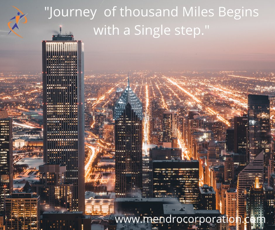 """""""Journey of thousand Miles Begins with a Single step."""" #journey #milestone #single #steps #mendrocorporation #educationxprt #bigbusiness #smallbusinesssupport #businesshelp #businesssuccess #businesssupportpic.twitter.com/UDsG6D38DB"""