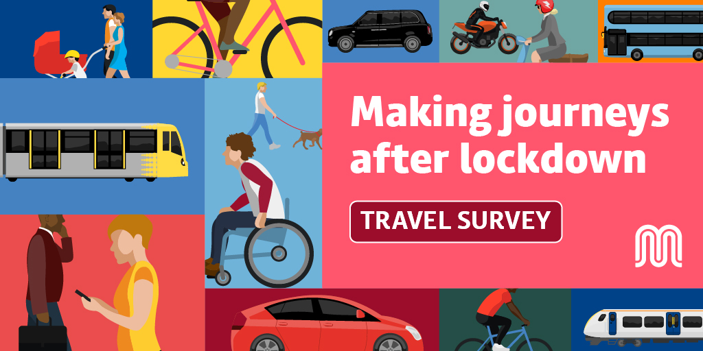 How will you use public transport post #lockdown? Will you #DriveLess? Will you #WorkFromHome? Love #cycling? @OfficialTfGM want your views on our transport network Please do the survey, it closes soon tfgm.com/GMTravelSurvey