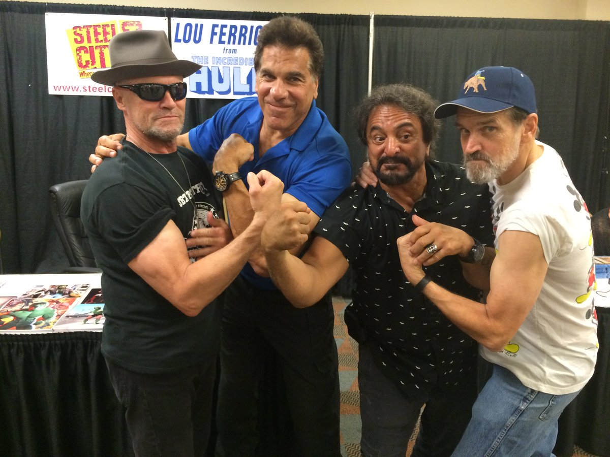 Who wins the muscle contest? #flashback #ferrigno #savini #rooker #moseley #steelcitycon
