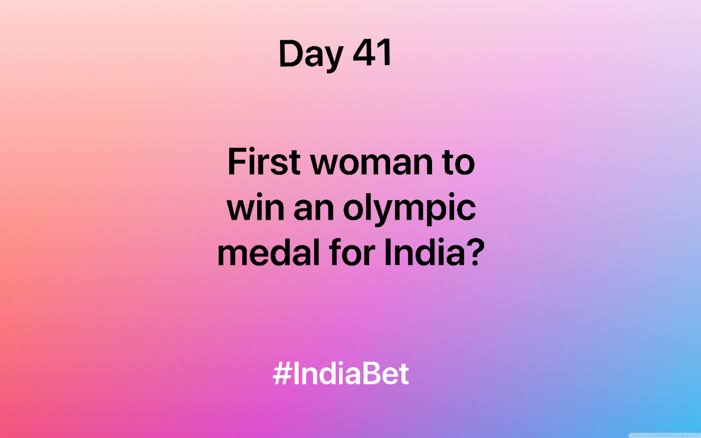 Day 41!   Comment right answer & win 3000 IBR!   #ContestAlert #SportsNews #SportsQuiz #Olympics #IndianWoman #First #Gaming #MobileGames https://t.co/oVHXWb52Gu