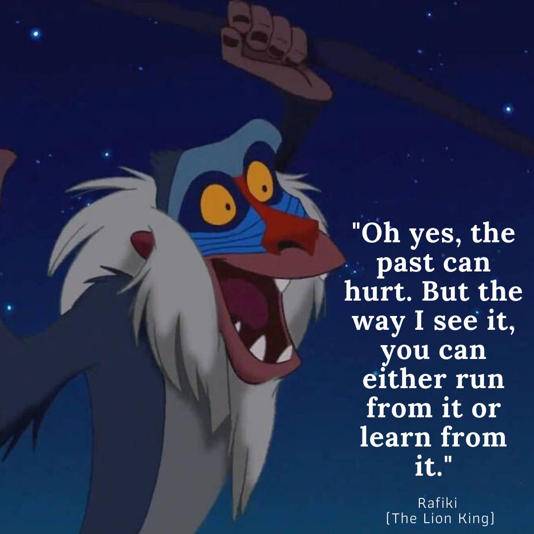 Don't run from the past, learn from it.... There's loads more great quotes from characters on our website - https://bit.ly/3flBTI3  #inspiration #successfulpeople #createsuccess #inspirationaltips #inspirationdaily #believeinyourself #northantsblogger #kidsparties pic.twitter.com/IQF6w7Xsmk