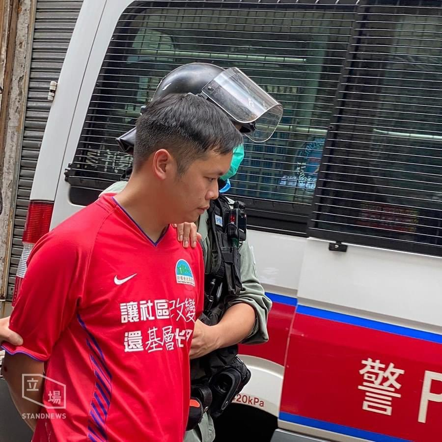 """Pastor Roy Chan, founder of the 'Protect the Children' group, and one of last year's hunger strikers, arrested in Central today.   An eyewitness said he was """"arrested without reason"""". #StandWithHongKong https://t.co/pJO0QOGtZ0 https://t.co/jwqAiNlshC"""