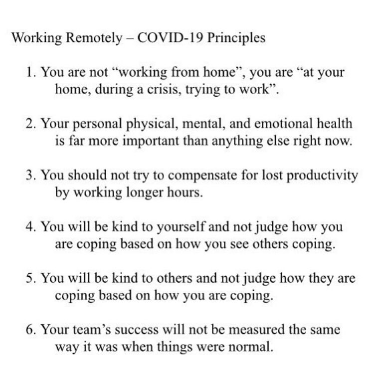 This is one of the best examples I've seen of communicating for trust.   Do you know who it's from?   The Canadian federal government! They  sent out an email with 'work at home' guiding principles.   Thanks  @AdamGrant for sharing this. https://t.co/P8pDKYlwyD