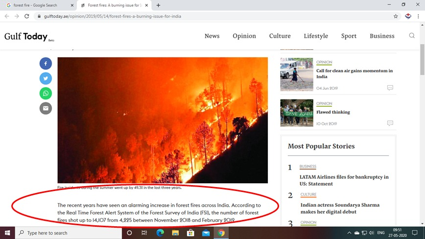 Fake news of forest fire 2020 in Uttarakhand are being circulated on social media. After verification of such images it has been found that these images are fake. Few such images are being uploaded by us. It is our request to kindly do not spread fake news. https://t.co/B9GBK8DgaL