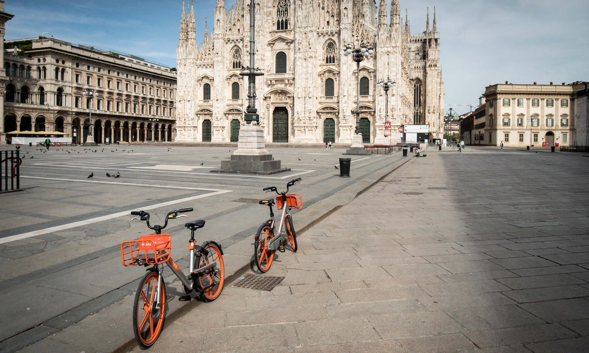 #Milan announces ambitious scheme to reduce car use after lockdown, with 35km of streets to be transformed with an expansion of cycling and walking space to protect residents as #COVID19 restrictions are lifted.  https://www.theguardian.com/world/2020/apr/21/milan-seeks-to-prevent-post-crisis-return-of-traffic-pollution…pic.twitter.com/CTU1Dz6my5