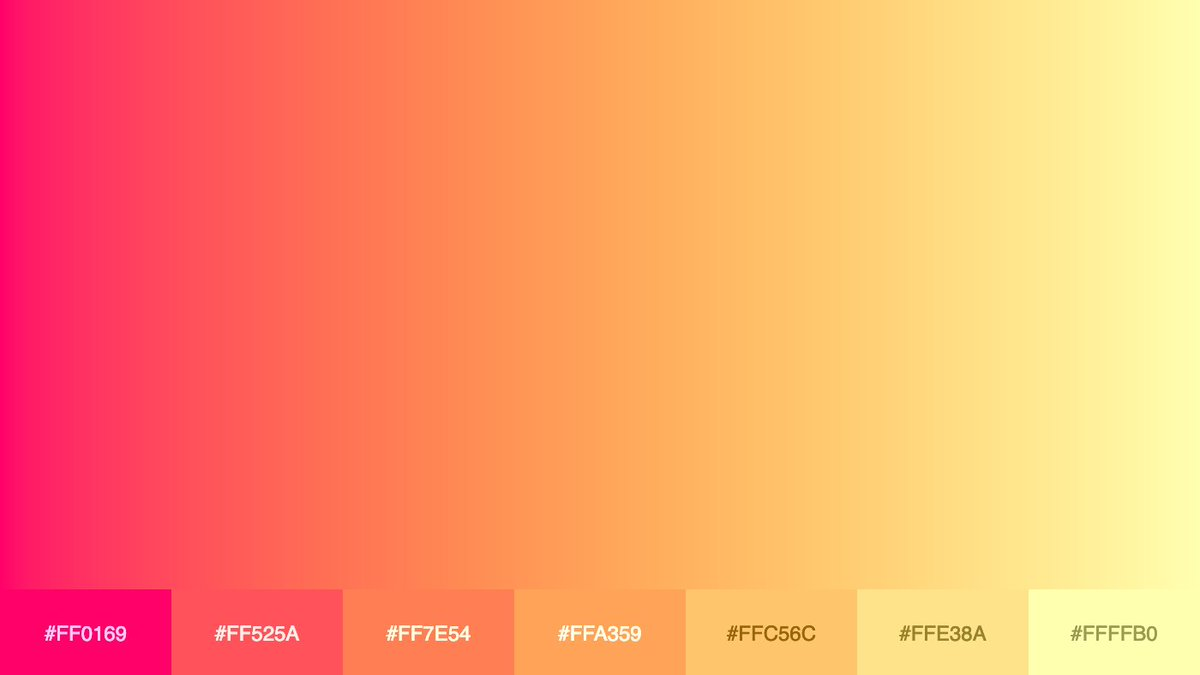 Generated palette #colors #palette #gradient #palitrapic.twitter.com/UvQ8xauY9f