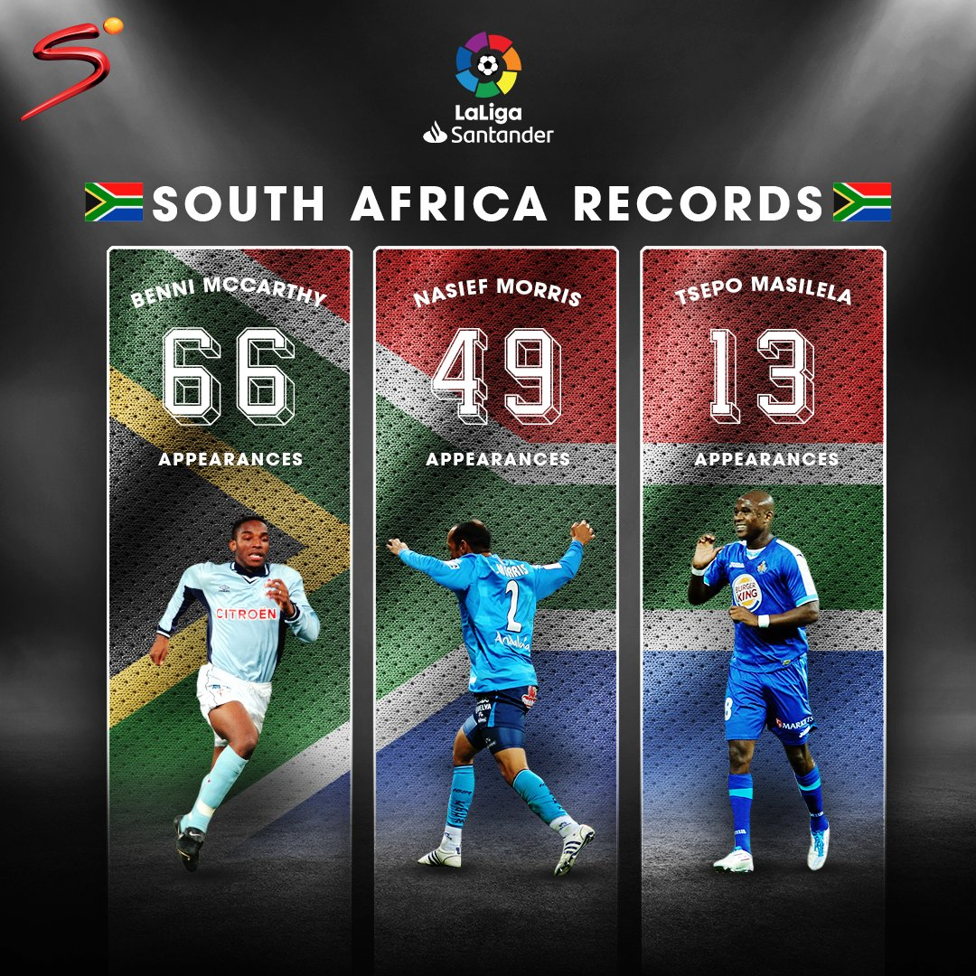 McCarthy  Masilela  Morris   South Africa had a fair representation of players in #LaLiga.  Can you recall your favourite moment from these players? pic.twitter.com/QYhZb6z9rn