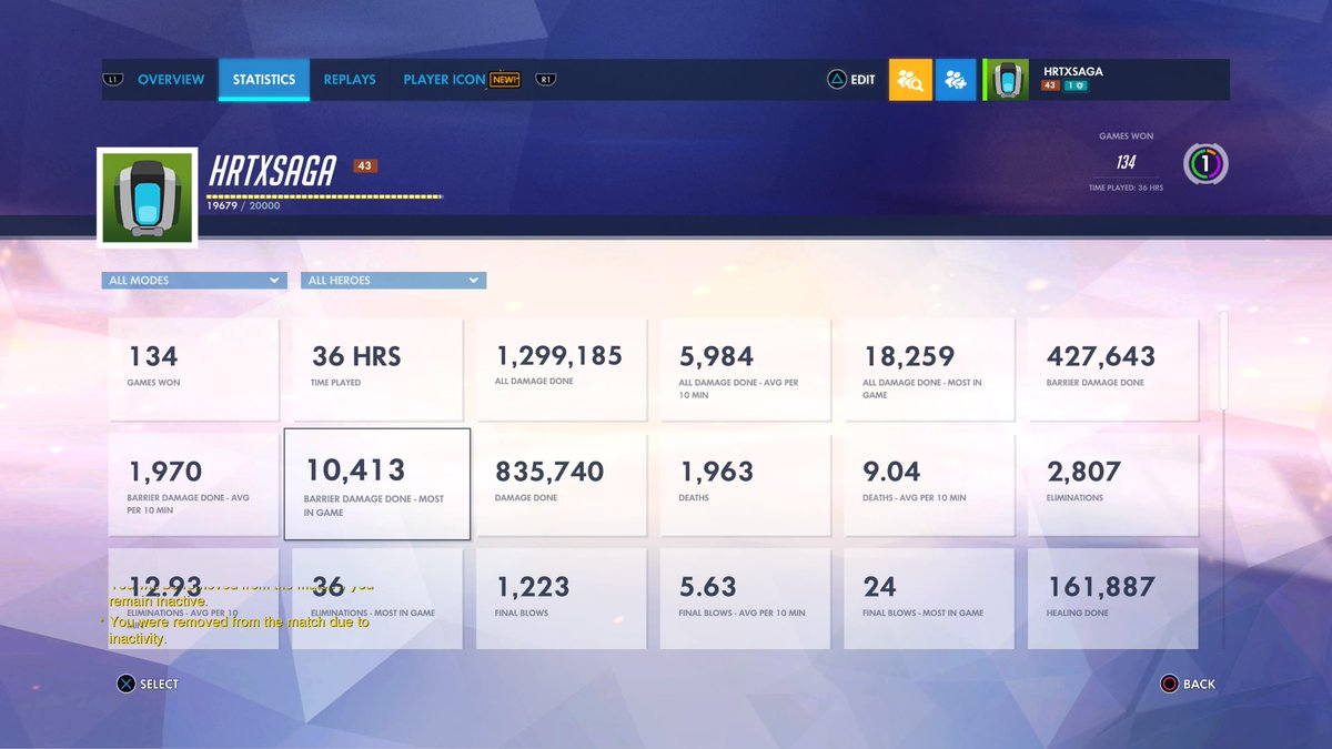 nearly 3000 eliminations in Overwatch #Overwatch #Overwatchgame #supportsmallstreamers  #twitchtv #PS4sharepic.twitter.com/Whe2b8ARRZ