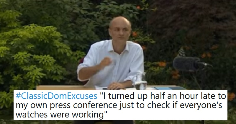 People have been sharing Classic Dom excuses to rival the Barnard Castle eye test – our 23 favourites. thepoke.co.uk/2020/05/27/cla…