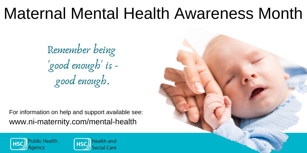 The month of May is #MaternalMentalHealthAwareness Month. During this time when our extended support networks are not available, if you are worried please remember to contact your GP, midwife or health visitor. For more information see: ni-maternity.com/mental-health #pregnancy #baby