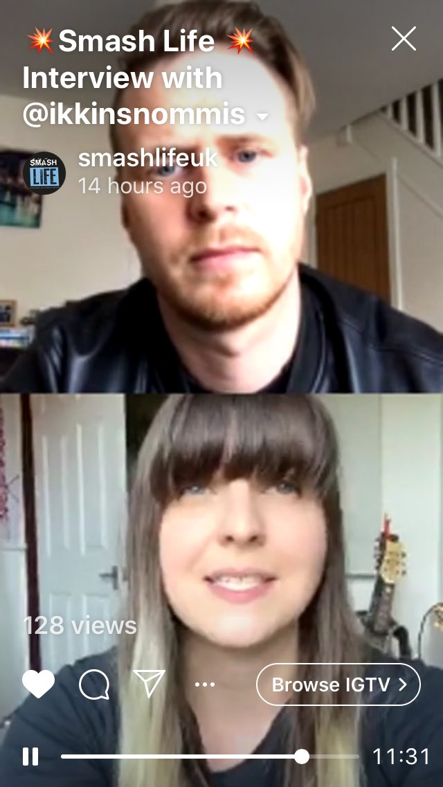 """A fantastic Insta live with @ikkinsnommis last night   A brill lady who admits her anxieties and vulnerabilities but also gave great advice about """"following your dream"""" and believing in yourself!   Lots of insight advice please direct aspiring singers over to our insta to watch! <br>http://pic.twitter.com/A2nCAmuKqH"""