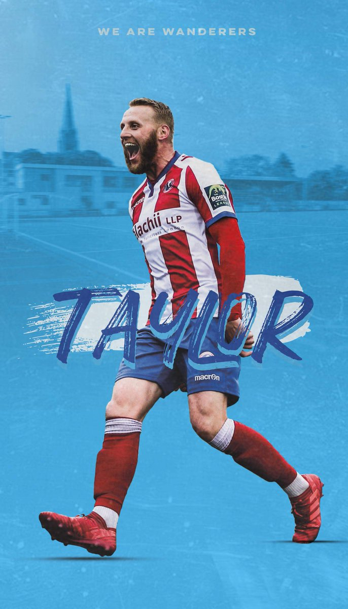 #WallpaperWednesday 🤩 This Wednesdays wallpaper is of THAT goal vs Worthing in 2019 from Lewis Taylor which helped us win the then Bostik Premier Division title! Tap on the image and screenshot to use 📲 #WeAreWanderers 🔴⚪