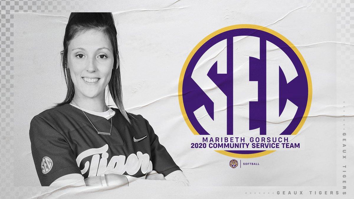 Senior @MaribethGorsuch has been named to the 2020 @SEC Community Service Team!   🔗: https://t.co/dw2l7WYIpF  #GeauxTigers https://t.co/8Ap1nEk0yU