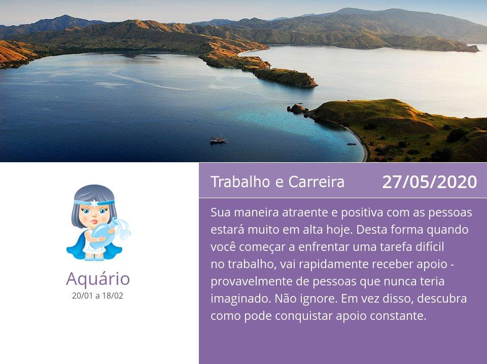 27/05/2020: Trabalho e Carreira => Veja mais: https://t.co/L4eqrzWIfu #Aquário #Horóscopo https://t.co/yOurNlK0G6
