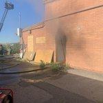 Image for the Tweet beginning: Crews still working structure fire