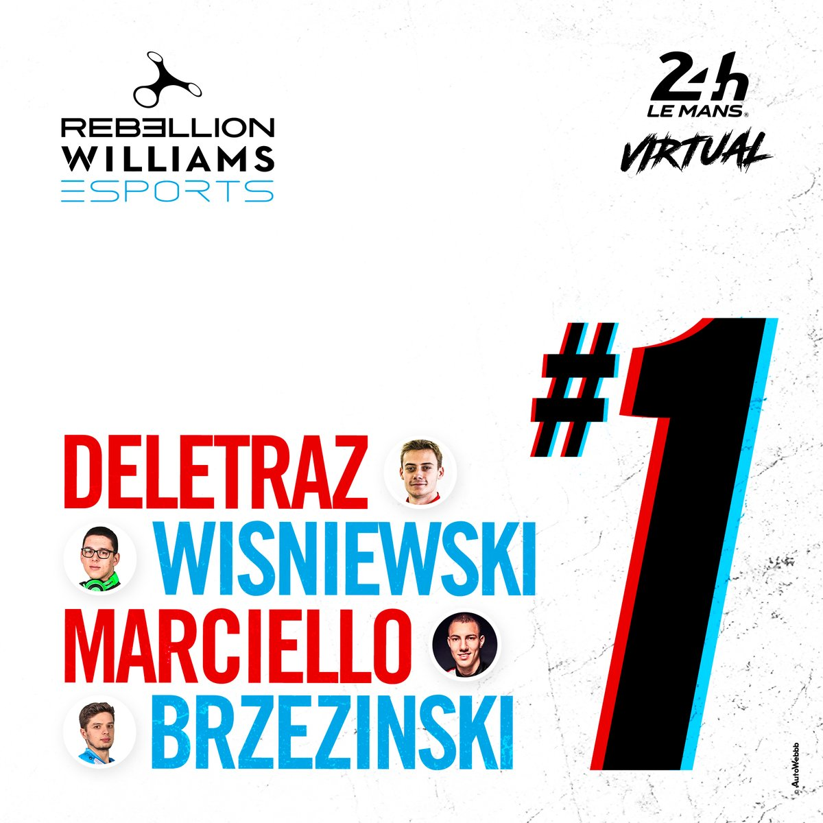#rFactor2   Announcing our first teams for the Virtual @24hoursoflemans! 💪  #WilliamsEsports X @RebellionRacing https://t.co/FFsx7CKX1O