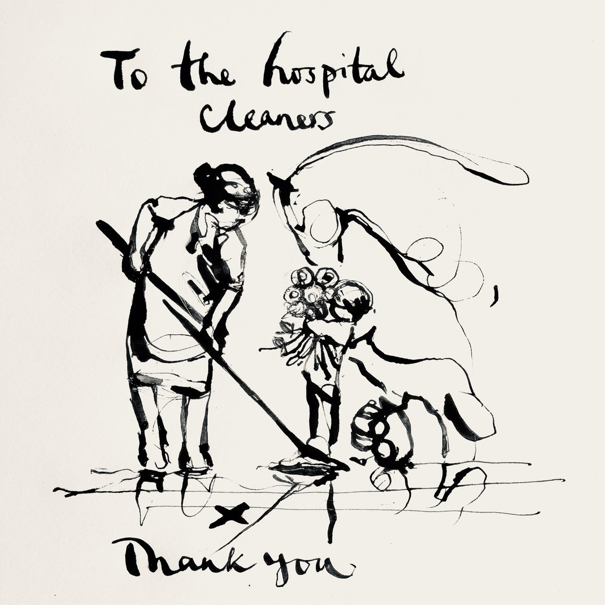The hospital cleaners. Legends. Thank you