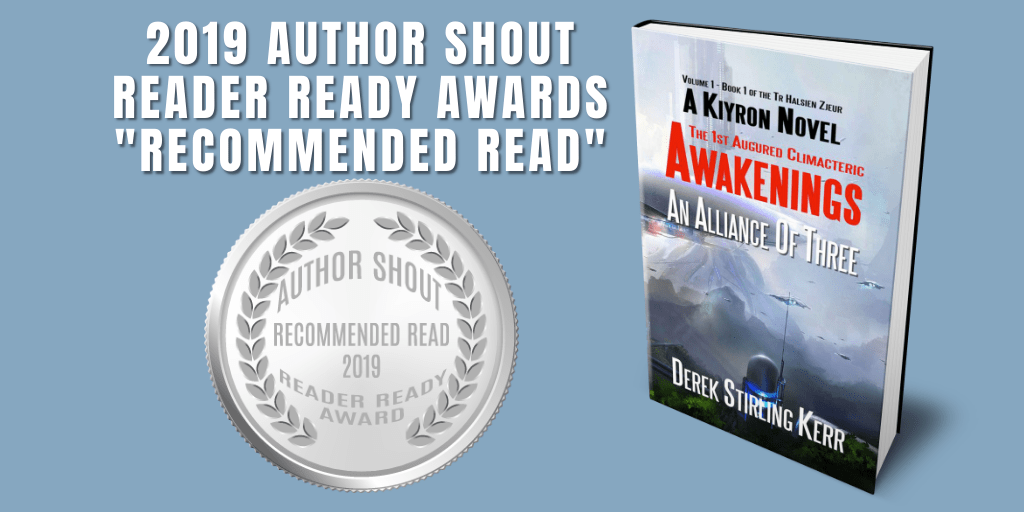 Reader Ready Award Recommended Read  Awakenings: The 1st Augured Climacteric: An Alliance Of Three is available at https://amzn.to/2GMi2Bw   @DSK64    #award #awardwinning #awardwinningauthor #asmsg #book #books #amreading #indiebooksbeseen #recommendedreadpic.twitter.com/5ukHVDbci5
