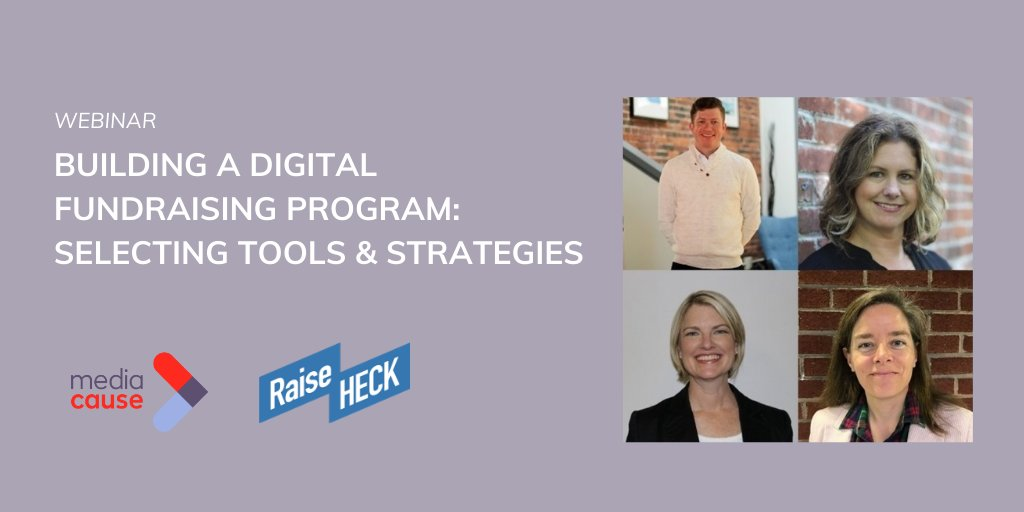 Transitioning away from galas and in person fundraisers, to building the best digital fundraising plan takes software and strategy. Join us for a webinar with Raise Heck to explore practical steps for nonprofits.   Sign-up here: https://bit.ly/2XB3hK4pic.twitter.com/WEmXR20a8j
