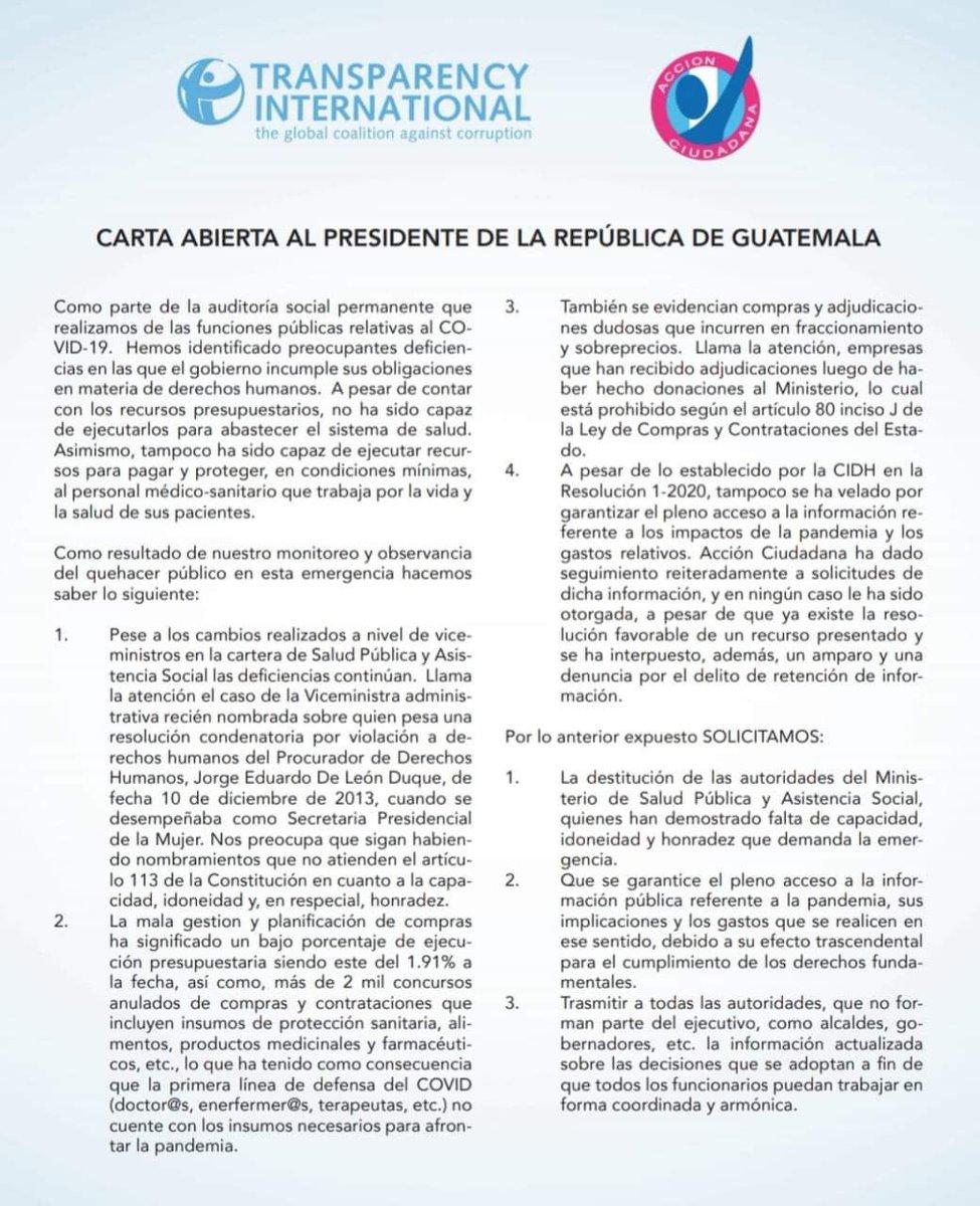 test Twitter Media - Acción Ciudadana pide al presidente la destitución de las autoridades del Ministerio de Salud. https://t.co/1EgRKYocGq