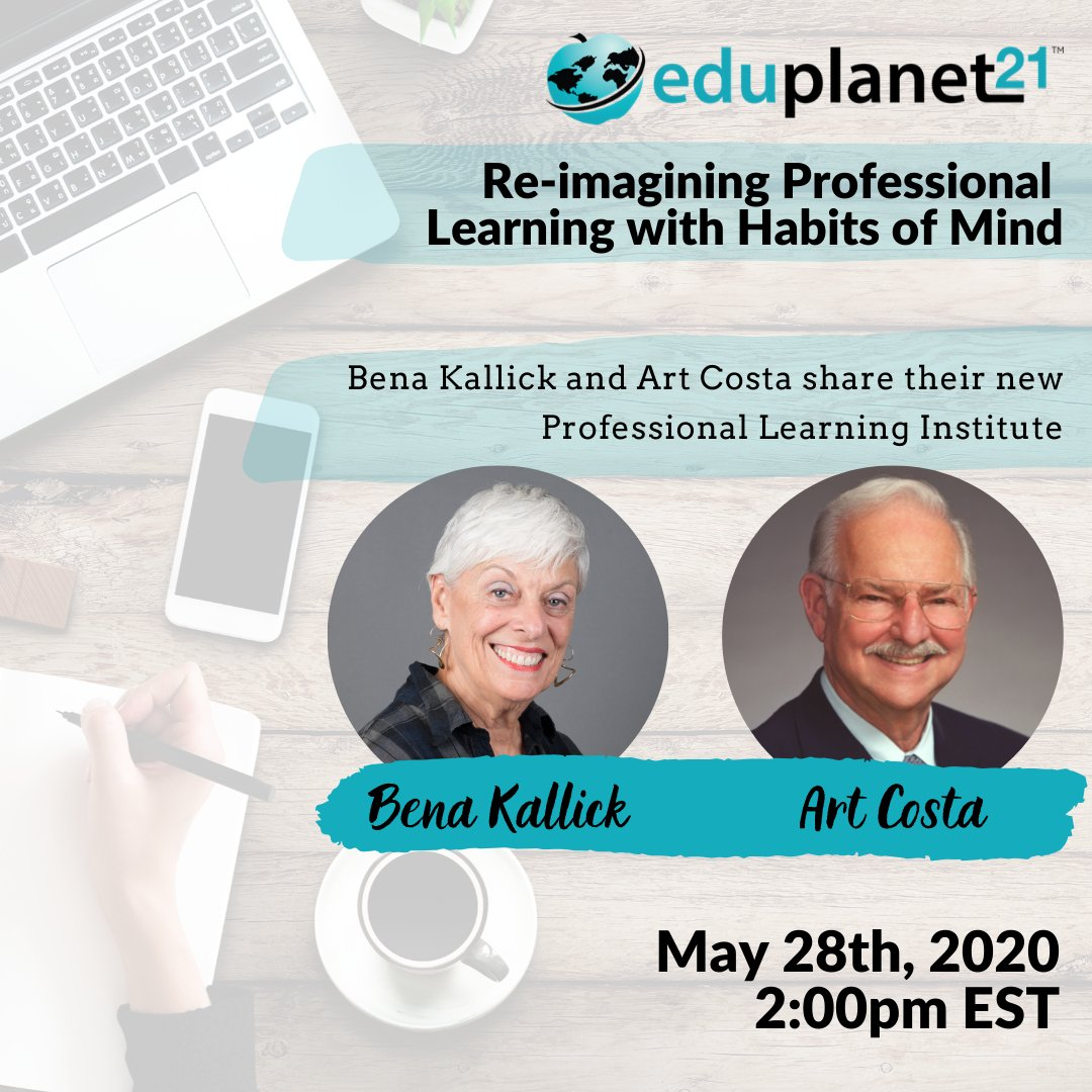 Join @benakallick and Art Costa tomorrow at 2pm EST as they share their new Professional Learning Institute on the #EP21 platform, and how the @hominstitute can serve us in responding to everyday problems, and in times of crisis. Register Here ➡️ https://t.co/nXnxLqdaXs https://t.co/OIaPG1aoiT